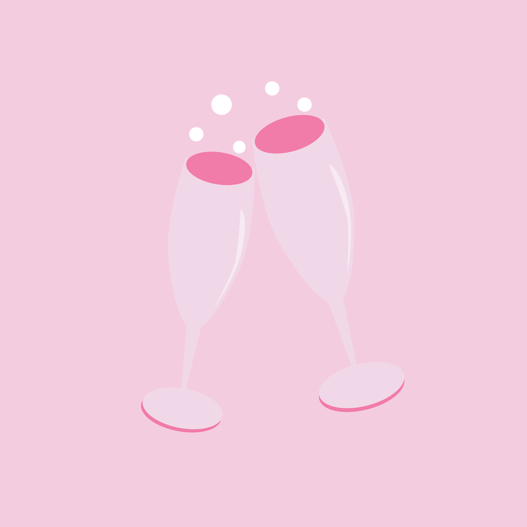 כוסות שמפניה - אביזרים למסיבת רווקות